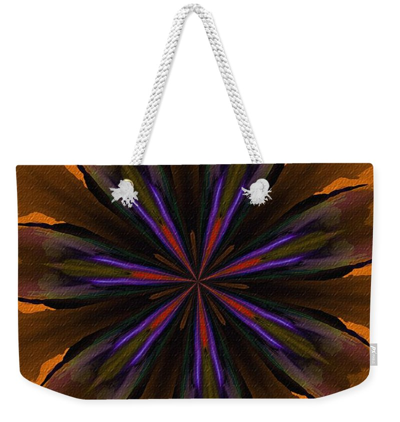 Fine Art Weekender Tote Bag featuring the digital art Floral Dream 090412 by David Lane