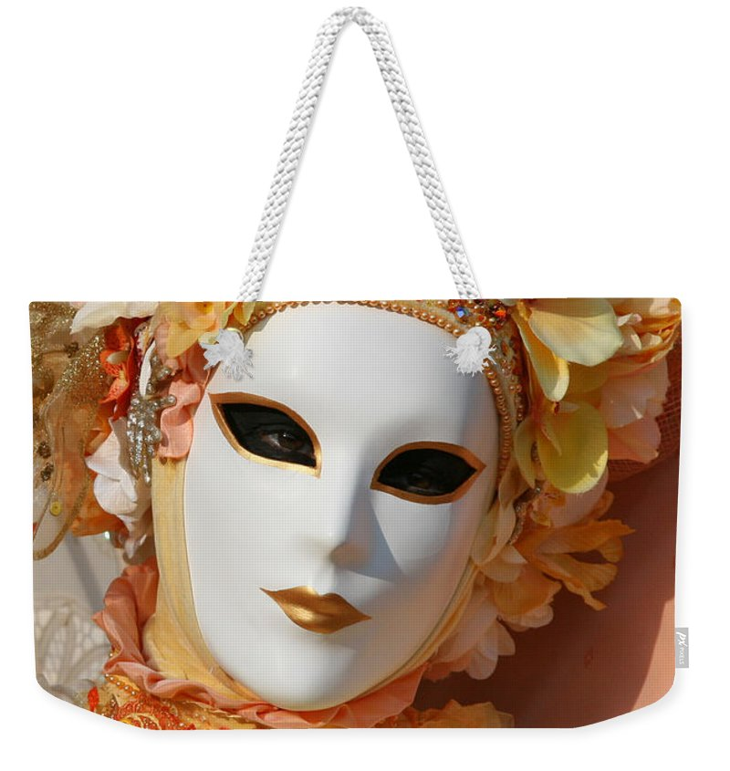 Venice Weekender Tote Bag featuring the photograph Floral Queen Portrait 2 by Donna Corless