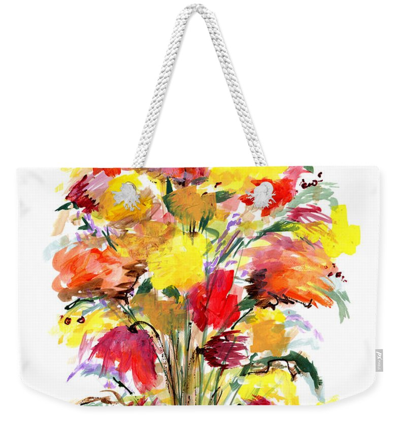 Flowers Weekender Tote Bag featuring the painting Floral Seven by Lynne Taetzsch
