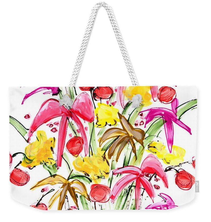Flowers Weekender Tote Bag featuring the painting Floral Twelve by Lynne Taetzsch