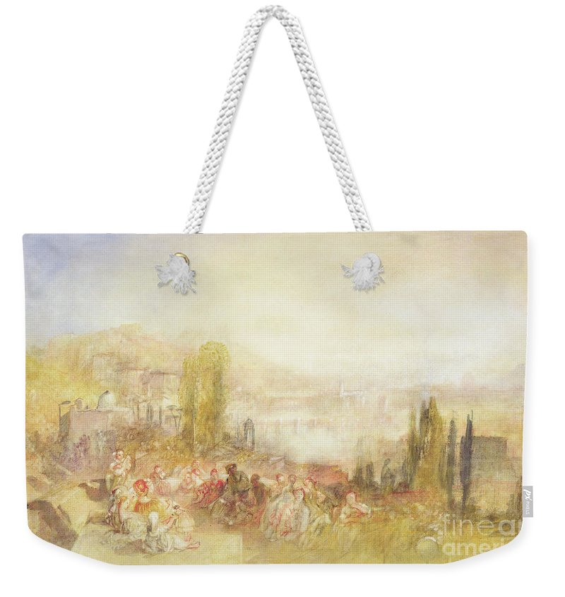 Florence Weekender Tote Bag featuring the painting Florence by Joseph Mallord William Turner