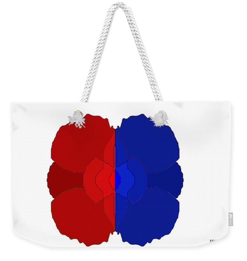 Fractal Weekender Tote Bag featuring the digital art Floret by George Pedro
