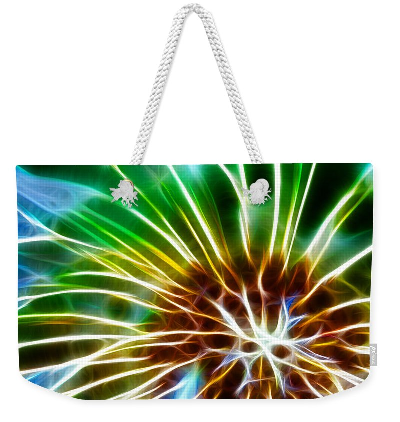 Abstract Weekender Tote Bag featuring the photograph Flower - Dandelion Tears - Abstract by Paul Ward