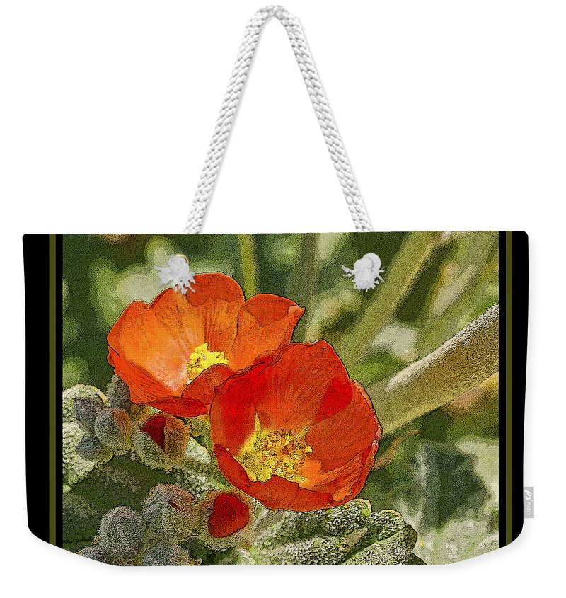 Flower Weekender Tote Bag featuring the photograph Flower 3 by Larry White