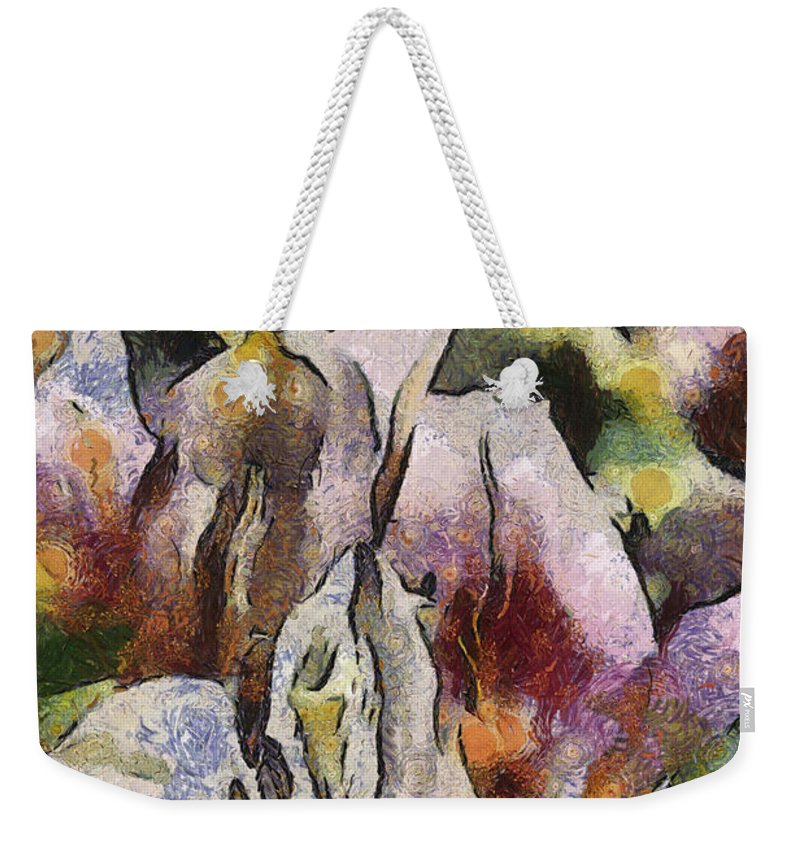 Flower Weekender Tote Bag featuring the photograph Flower Full Of Color by Trish Tritz