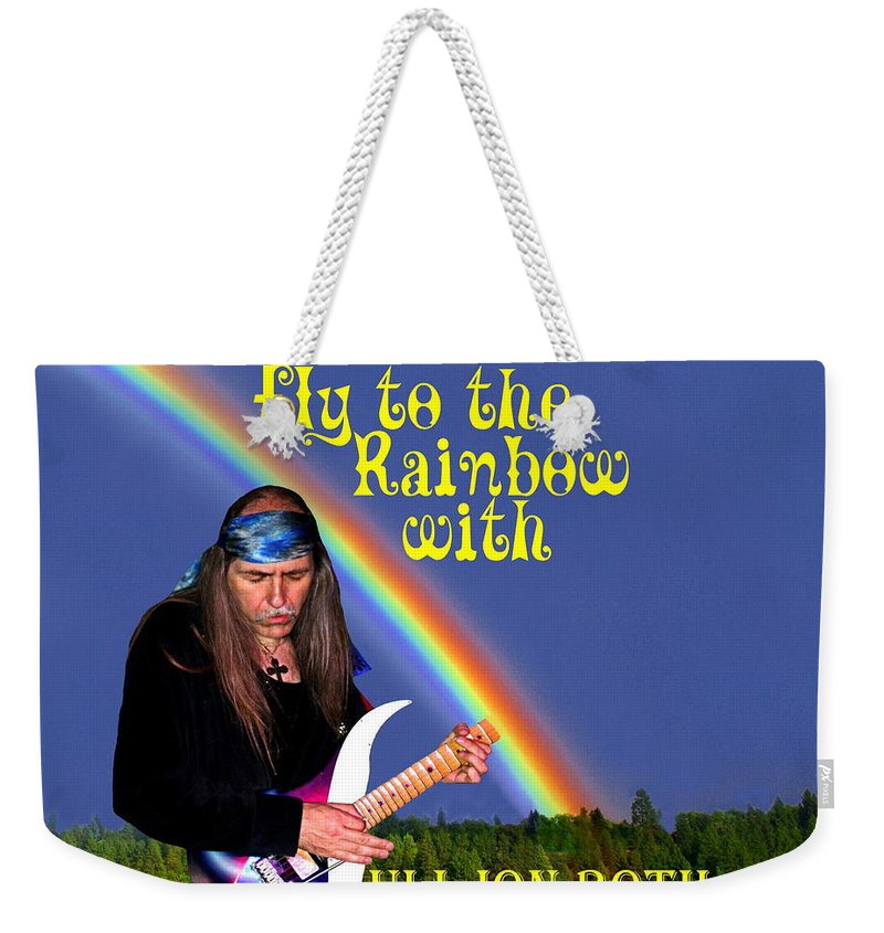 Uli Jon Roth Weekender Tote Bag featuring the photograph Fly To The Rainbow With Uli Jon Roth by Ben Upham