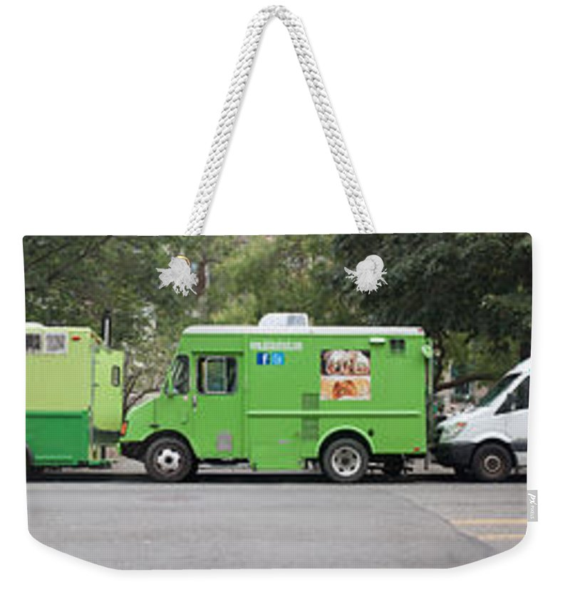 Americana Weekender Tote Bag featuring the photograph Food Trucks by Thomas Marchessault