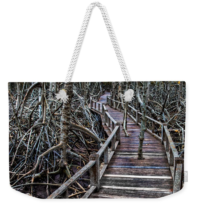 Mangrove Forest Weekender Tote Bag featuring the photograph Footpath In Mangrove Forest by Adrian Evans
