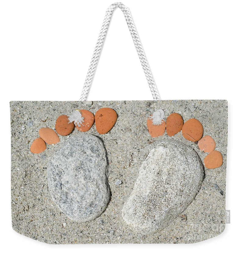 Footprints Weekender Tote Bag featuring the photograph Footprints by Mats Silvan