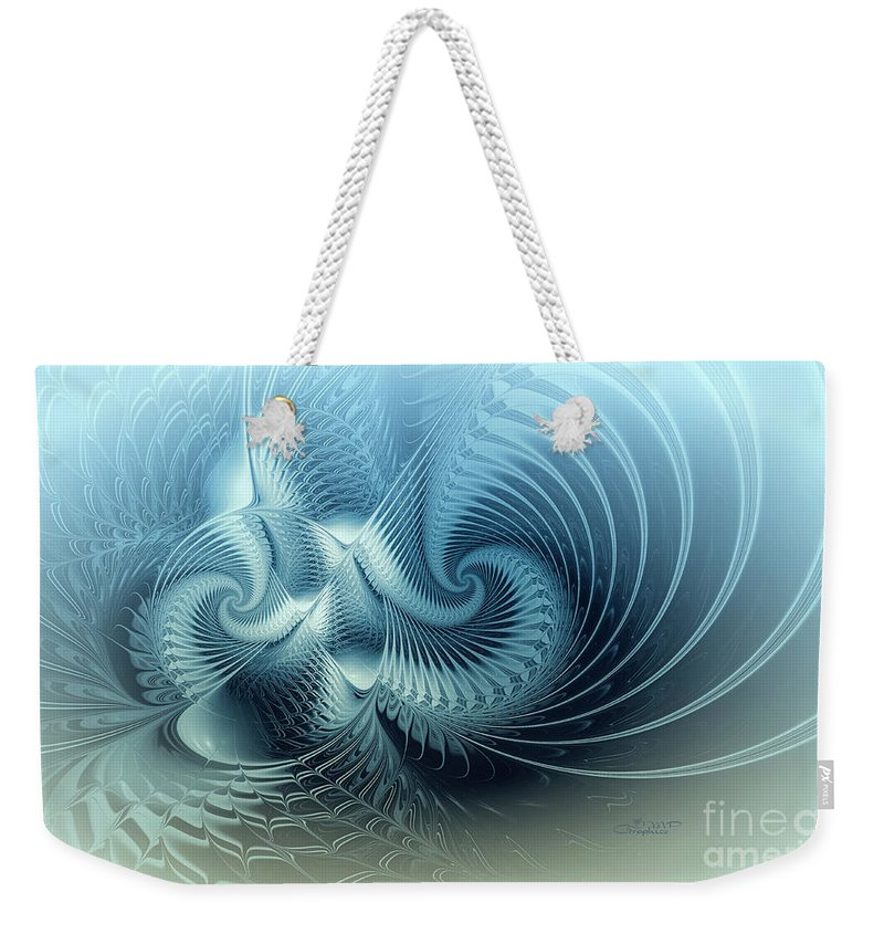 Fractal Weekender Tote Bag featuring the digital art For Ever And A Day by Jutta Maria Pusl