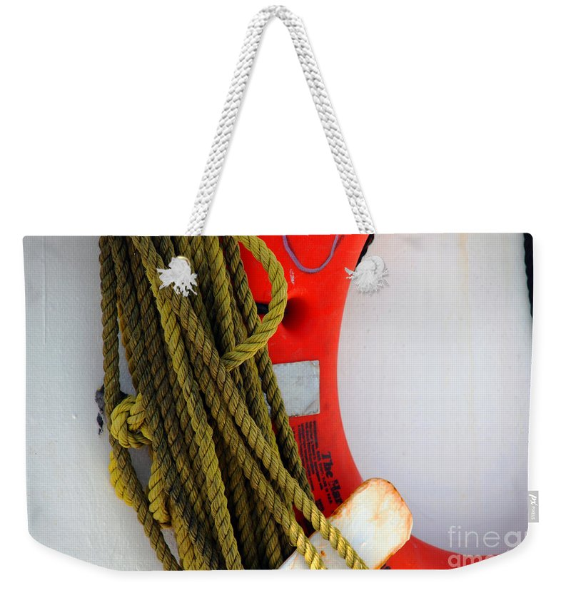 Safety Weekender Tote Bag featuring the photograph For Your Safety-ii by Susanne Van Hulst