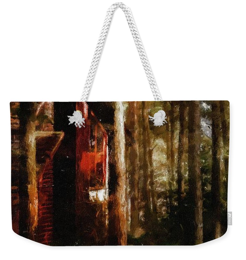Impressionism Weekender Tote Bag featuring the painting Forest In Fall by Georgiana Romanovna