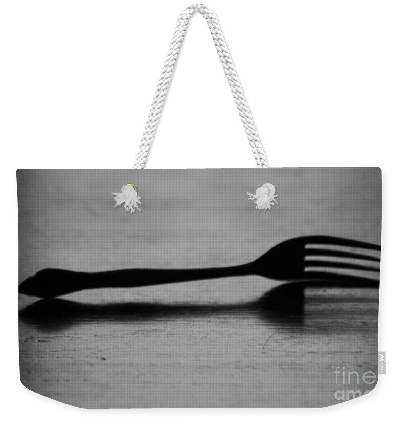 Fork Weekender Tote Bag featuring the photograph Fork by Michelle Powell