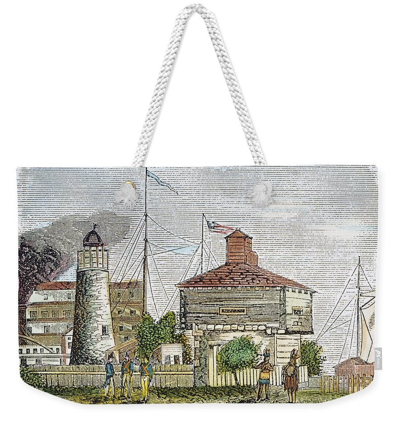 1830 Weekender Tote Bag featuring the photograph Fort Dearborn, 1830 by Granger