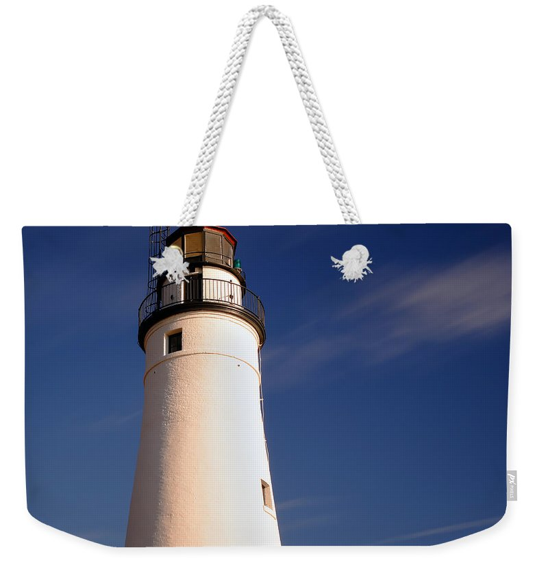 Fort Weekender Tote Bag featuring the photograph Fort Gratiot Lighthouse by Gordon Dean II