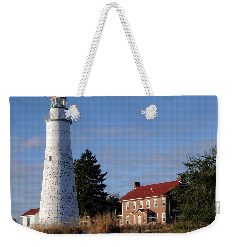 Lighthouse Weekender Tote Bag featuring the photograph Fort Gratiot Lighthouse by Ronald Grogan