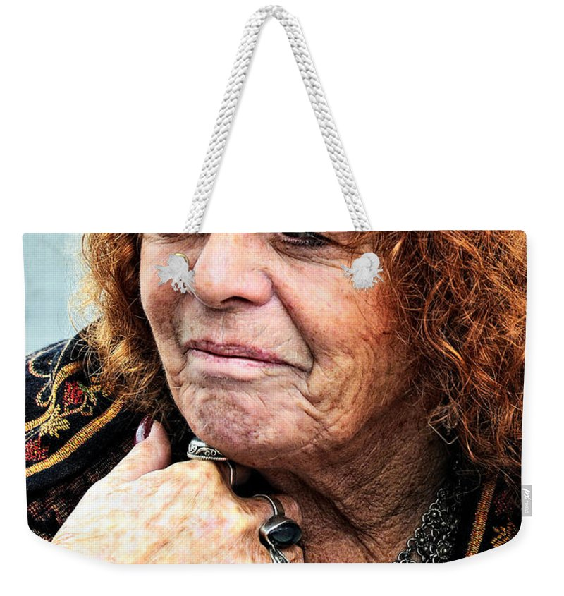 Woman Weekender Tote Bag featuring the photograph Fortune Teller by Kathleen K Parker