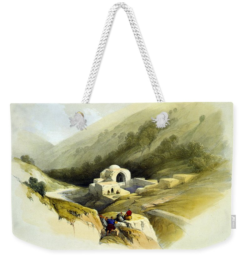 Fountain Weekender Tote Bag featuring the photograph Fountain Of Job Valley Of Hinnom by Munir Alawi