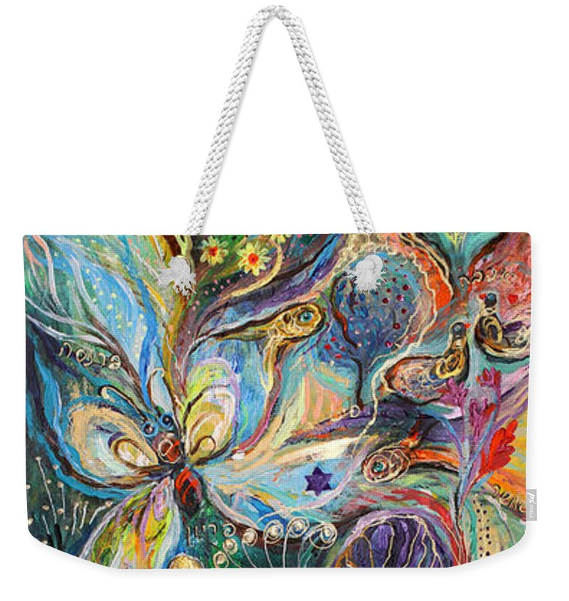 Original Weekender Tote Bag featuring the painting Four Elements Air Part 2 From 4 by Elena Kotliarker