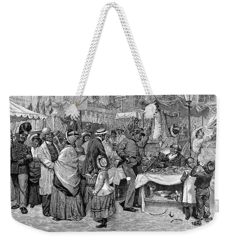 1888 Weekender Tote Bag featuring the photograph Fourth Of July, 1888 by Granger