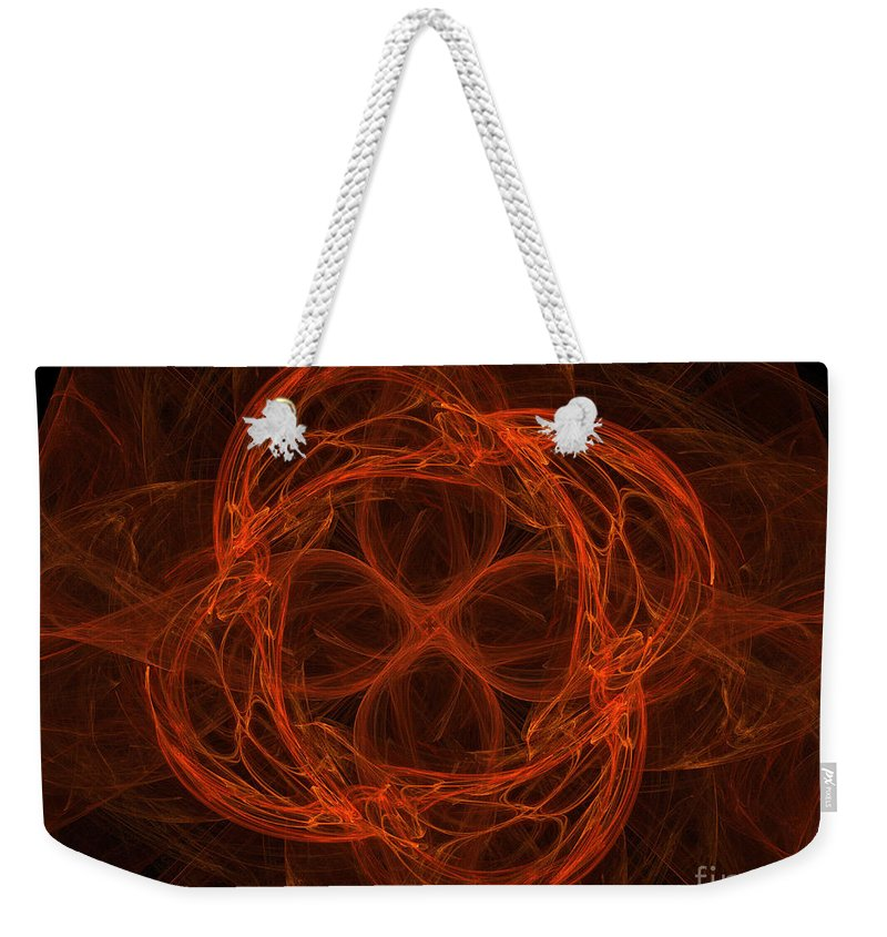 Complex Numbers Weekender Tote Bag featuring the photograph Fractal Image by Ted Kinsman