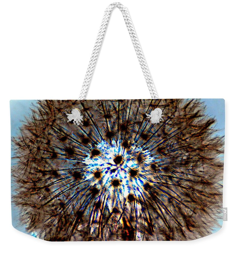 Abstract Weekender Tote Bag featuring the photograph Fractal Seed by Marty Koch