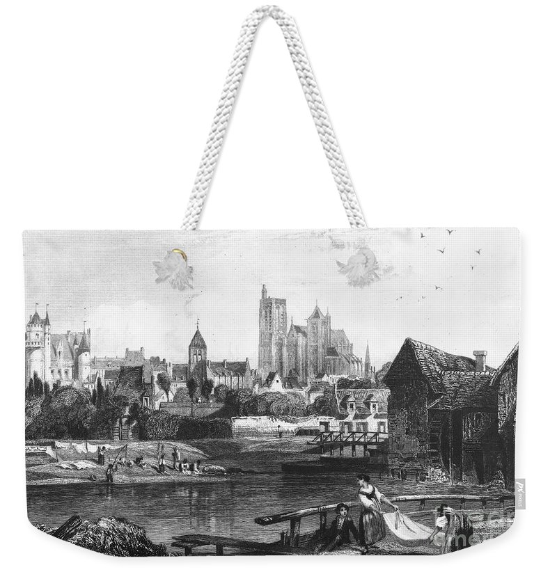 1850 Weekender Tote Bag featuring the photograph France: Bourges by Granger