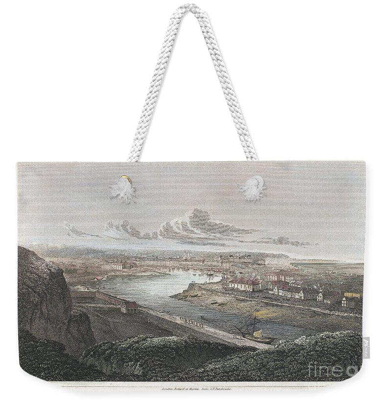 1822 Weekender Tote Bag featuring the photograph France: Dieppe, 1822 by Granger