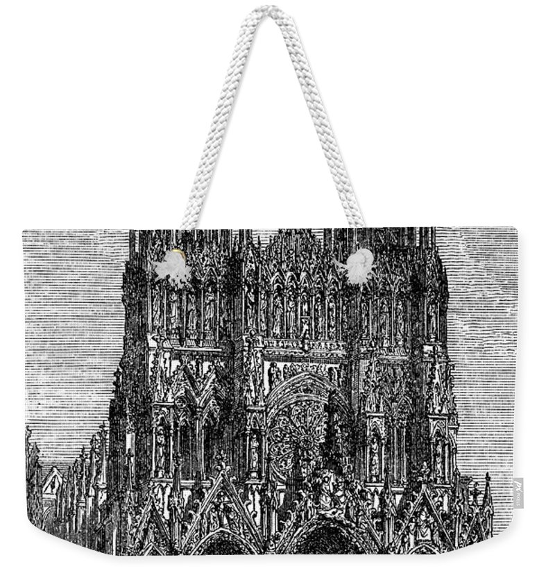 13th Century Weekender Tote Bag featuring the photograph France: Reims Cathedral by Granger