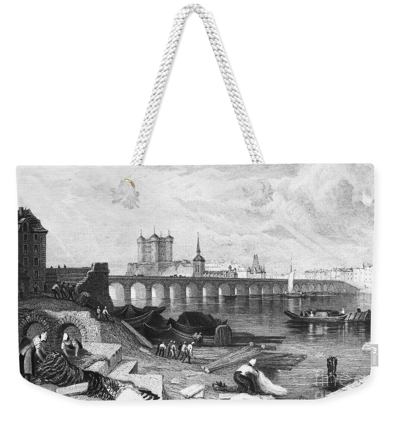 1835 Weekender Tote Bag featuring the photograph France: Saumur by Granger
