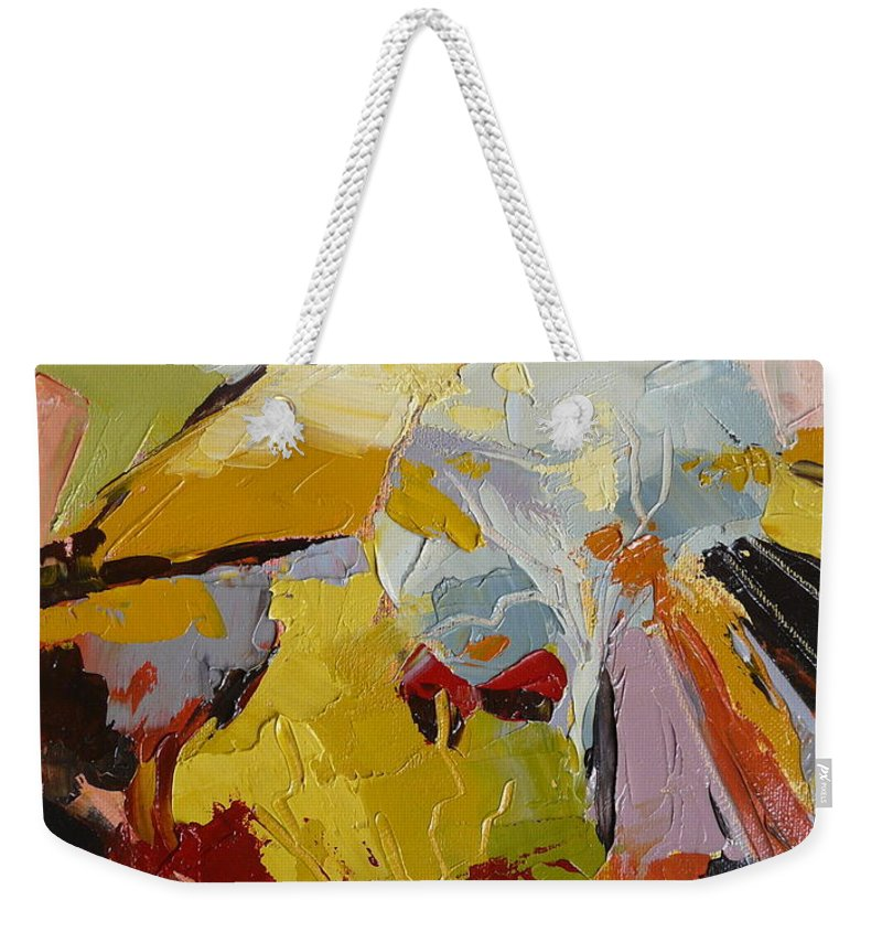 Landscape Weekender Tote Bag featuring the painting French Farm by Yvonne Ankerman