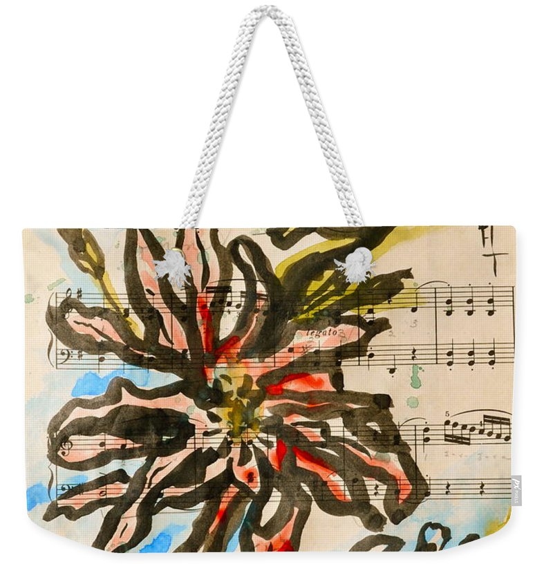 Magnolia Weekender Tote Bag featuring the painting French Magnolia Minuet by Beverley Harper Tinsley