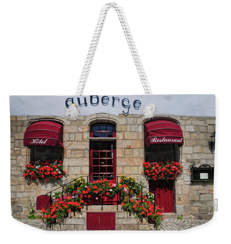 French Restaurant Weekender Tote Bag featuring the photograph French Restaurant  by Dave Mills