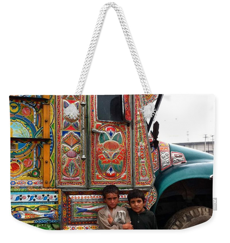 Truck Art Weekender Tote Bag featuring the photograph Friends - Take Me For A Ride In Your Jingly Truck by Fareeha Khawaja