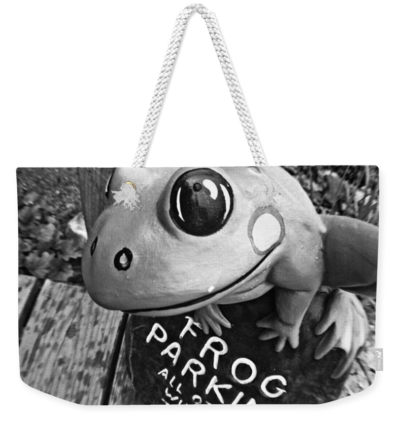 Frog Weekender Tote Bag featuring the photograph Frog by Matt Zerbe