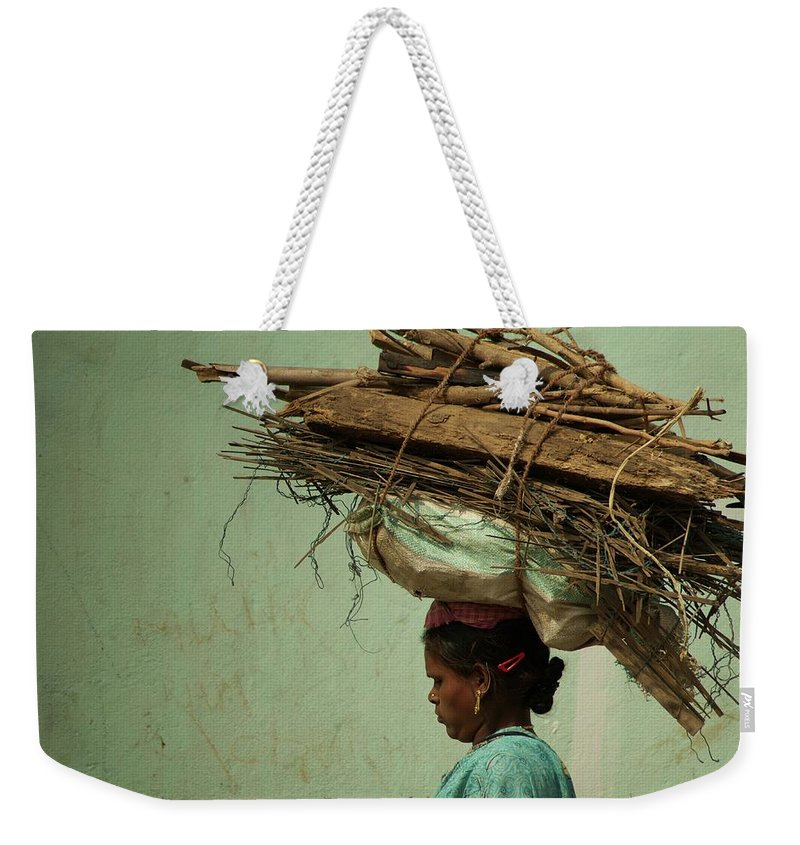 People Weekender Tote Bag featuring the photograph From My Window by Valerie Rosen