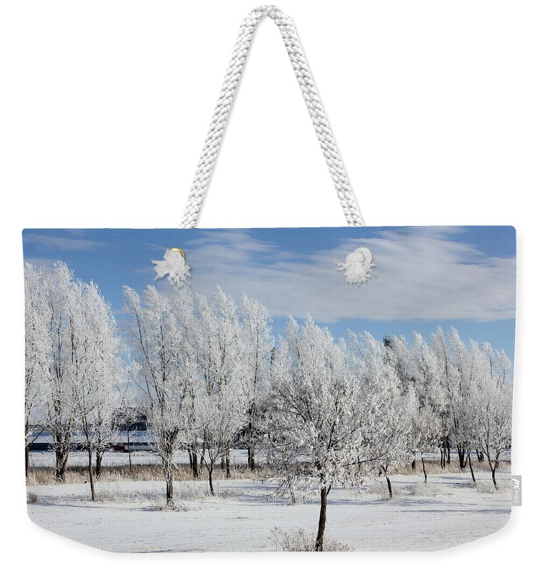 Landscape Weekender Tote Bag featuring the photograph Frosted by Bryan Noll