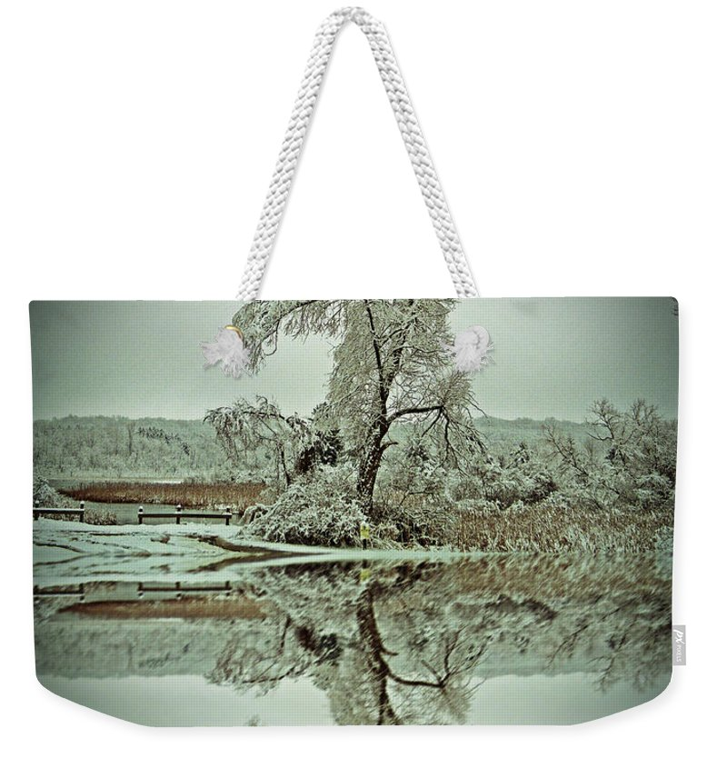 Landscape Weekender Tote Bag featuring the photograph Frozen In Time by Aimee L Maher ALM GALLERY
