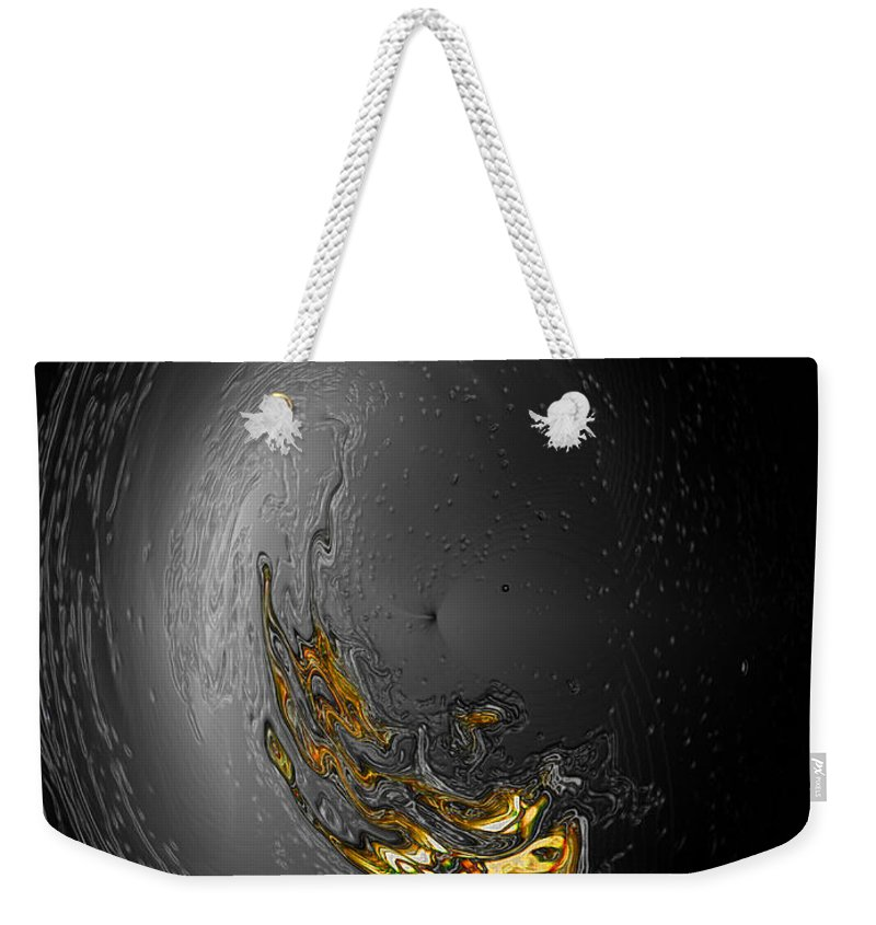 Abstract Weekender Tote Bag featuring the photograph Full Moon 2 by Kathy Moll