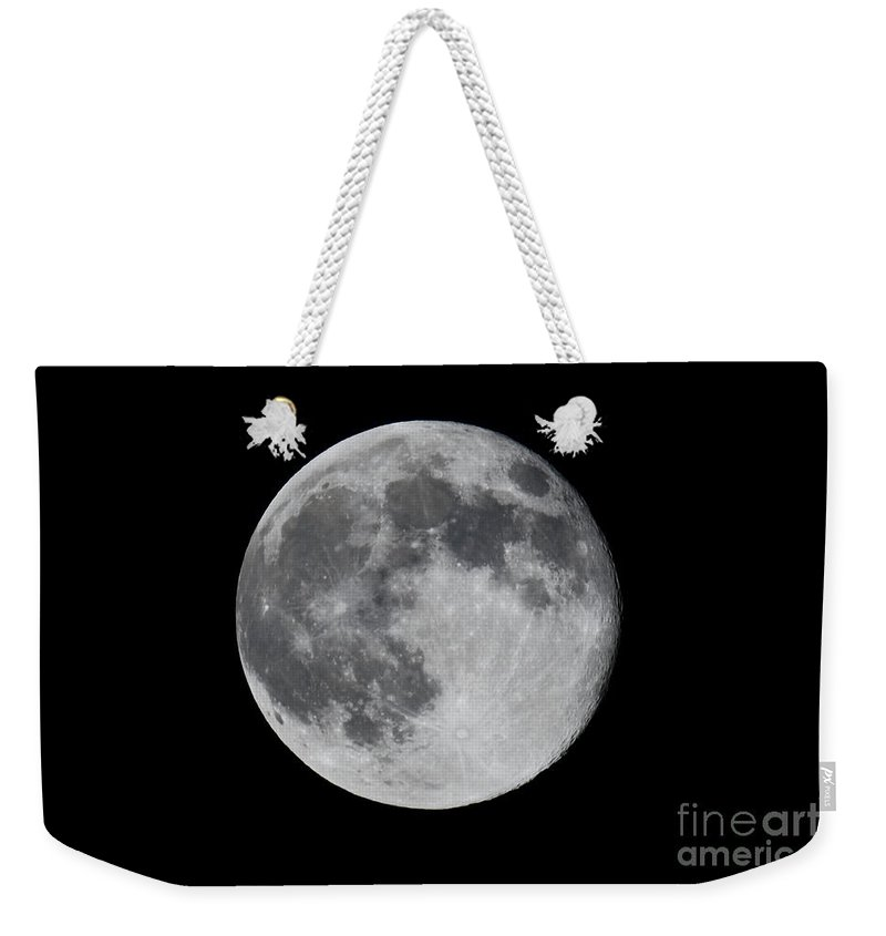 Moon Weekender Tote Bag featuring the photograph Full Moon by Daniel Knighton