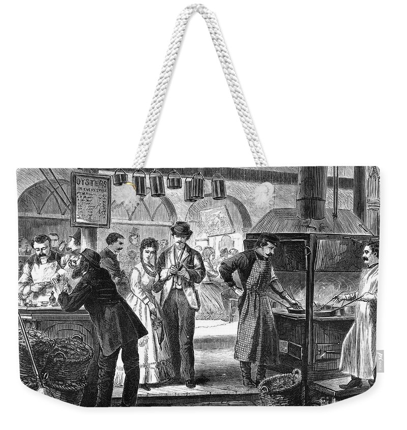 1870 Weekender Tote Bag featuring the photograph Fulton Fish Market, 1870 by Granger