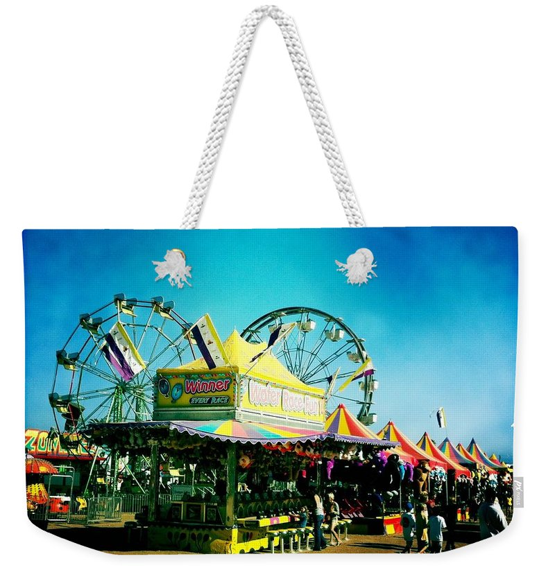 Fair Weekender Tote Bag featuring the photograph Fun At The Fair by Nina Prommer