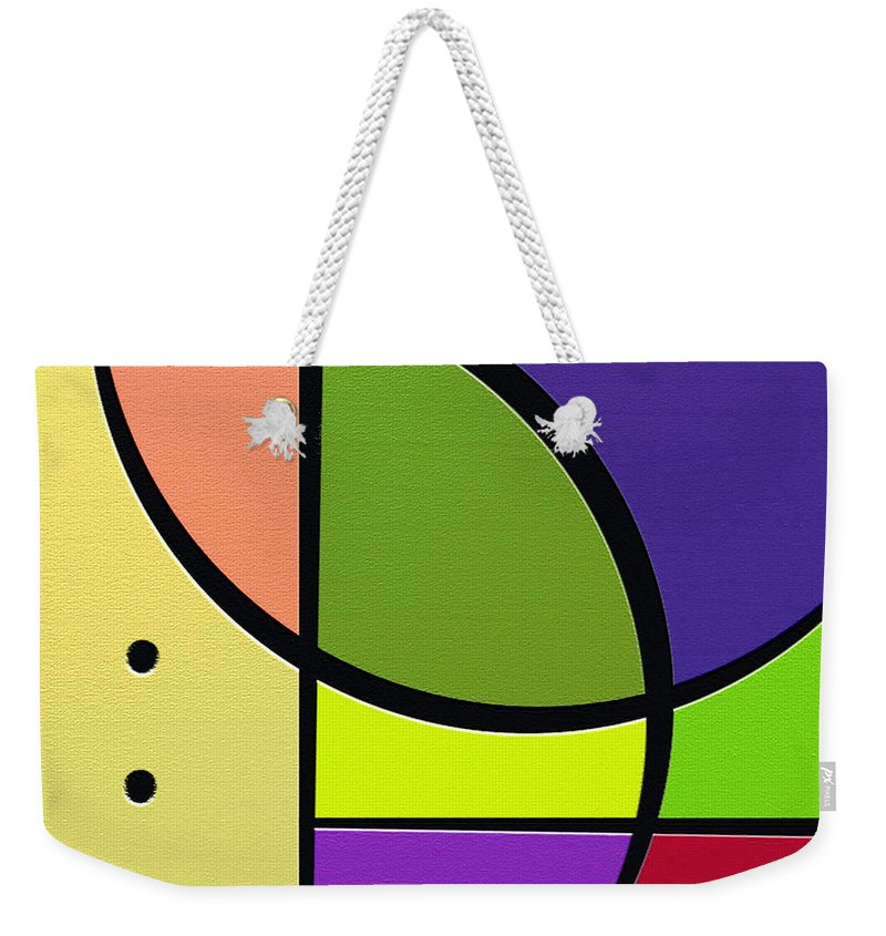 Abstract Art Weekender Tote Bag featuring the digital art Fun by Ely Arsha