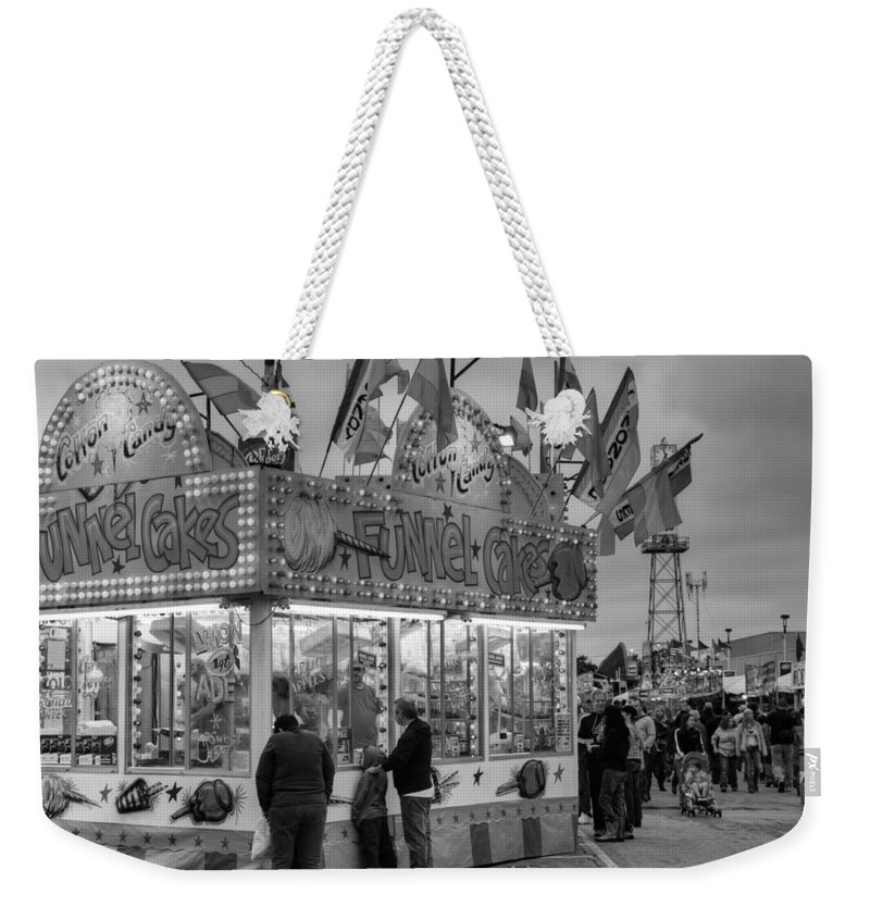 Fair Weekender Tote Bag featuring the photograph Funnel Cakes by Ricky Barnard