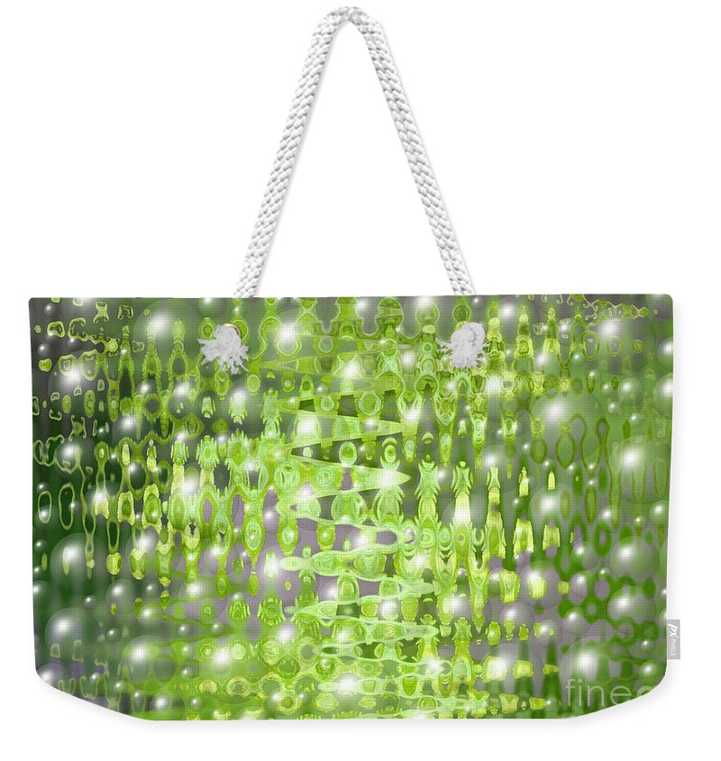 Abstract Art Weekender Tote Bag featuring the digital art Future Forest Abstract by Carol Groenen