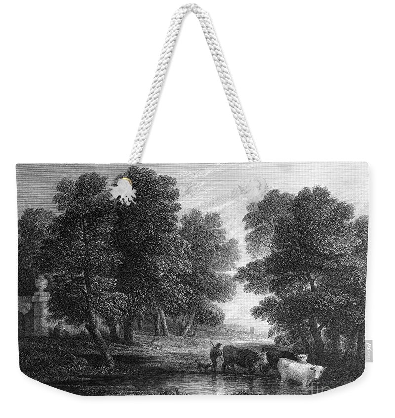18th Century Weekender Tote Bag featuring the photograph Gainsborough: Scenic View by Granger