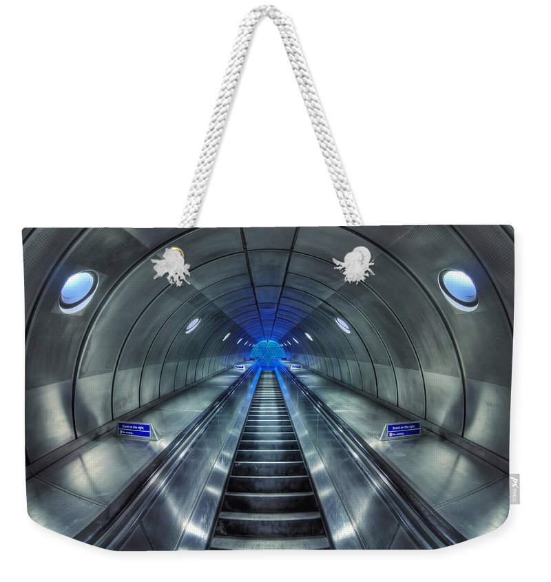 Underground Weekender Tote Bag featuring the photograph Galactic Quest by Evelina Kremsdorf
