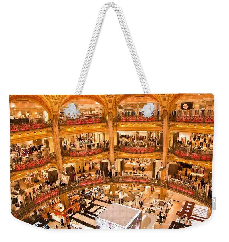 France Weekender Tote Bag featuring the photograph Galleries Laffayette IIi by Jon Berghoff