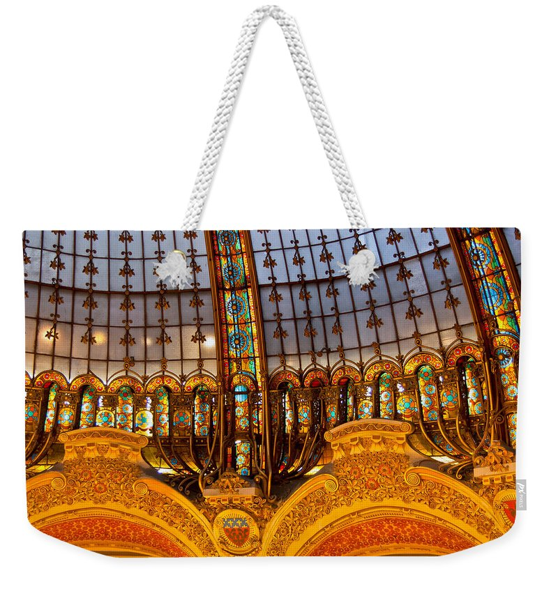 France Weekender Tote Bag featuring the photograph Galleries Laffayette Iv by Jon Berghoff