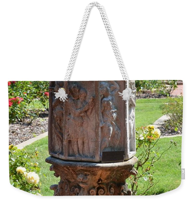 Garden Weekender Tote Bag featuring the photograph Garden Divine by Maria Urso
